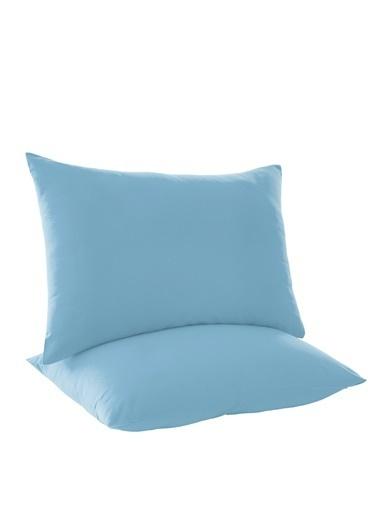 Eponj Home 2li Yastık Kılıfı %100 Pamuk Ranforce DüzBoya Mavi